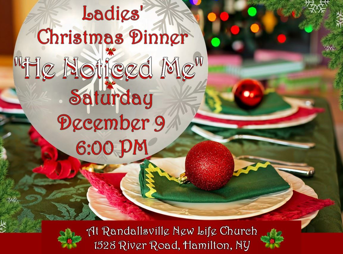 Church Christmas Dinner.Randallsville New Life Church Ladies Christmas Dinner